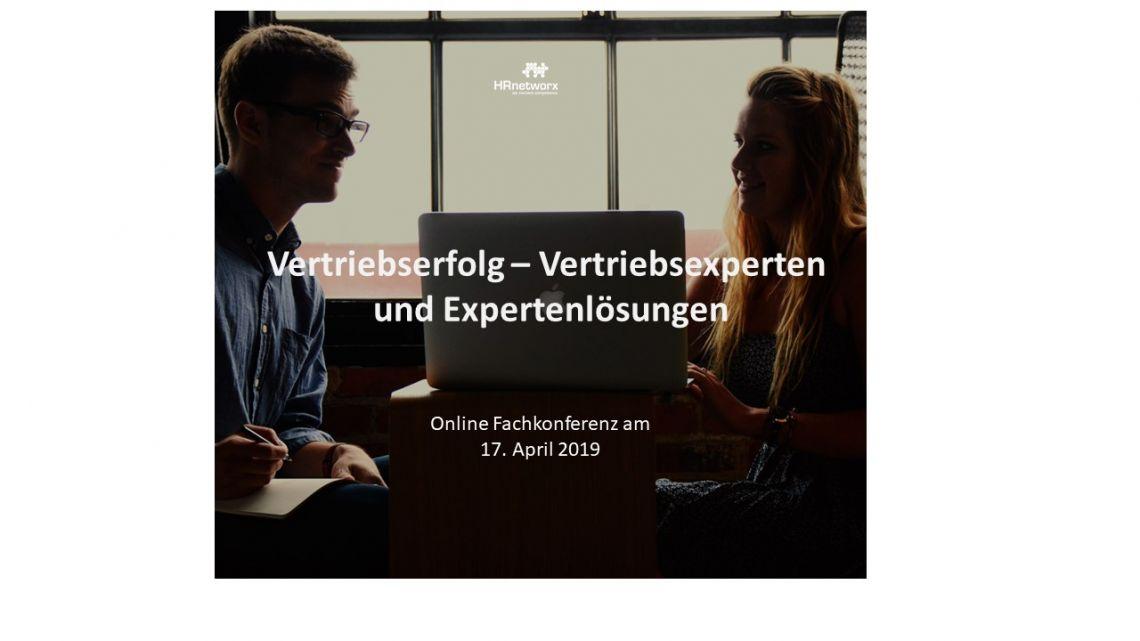 networx Online Fachkonferenz:  Vertriebserfolg Vertriebsexperten und Expertenlösungen